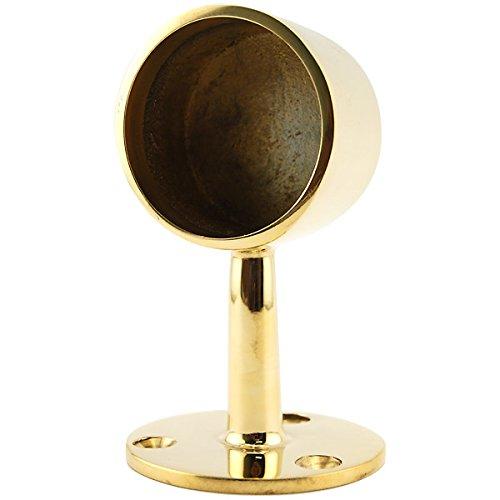 KegWorks Center Post End Cap - Polished Brass - For 2
