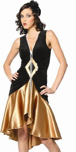 [Womens Halloween Costumes 20s Flapper Dress Costume Womens U.S. XS] (Puttin On The Ritz Costumes)