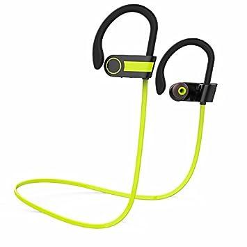 LIUYULIN Auriculares Bluetooth Auriculares Inalámbricos Bluetooth 4.1 Sport Auriculares Auriculares Estéreo De Cuello Verde