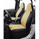 Coverking Custom Fit Seat Cover for Jeep Wrangler TJ 2-Door - (Neoprene, Black/Tan)