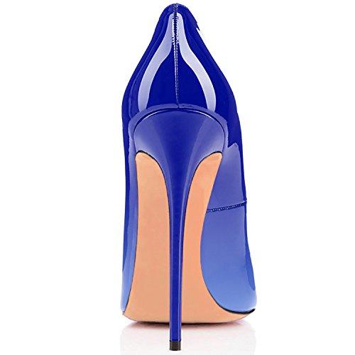 Scarpe Tacco col Donna uBeauty Scarpe Multicolore Scarpe Classiche da Blue col Tacco OzqdqF