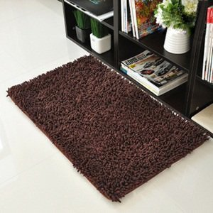 KLOUD City Dark Brown Anti Slip Microfiber Bedroom Kitchen Area Rug Carpet  (24u0026quot;