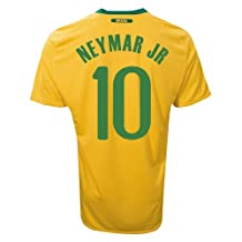 BRAZIL NEYMAR JR # 10 HOME JERSEY