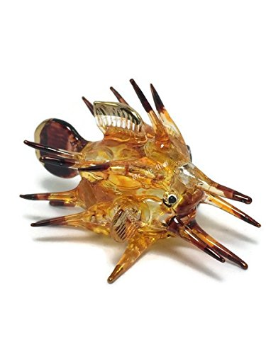Mr_air_thai_Glass_Blown Tiny Crystal Puffer Hand Blown Clear Glass Art Puffer Figurine Animals Collection Glass Blown Fish