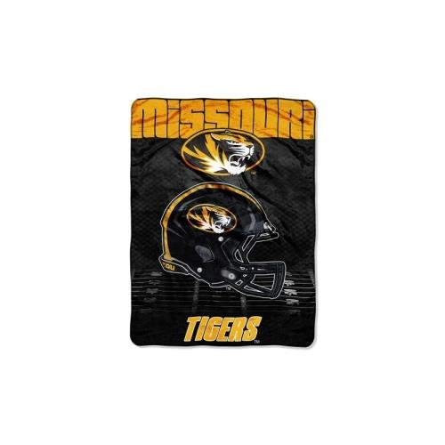 Officially Licensed NCAA Missouri Tigers Overtime Micro Raschel Throw Blanket, 60