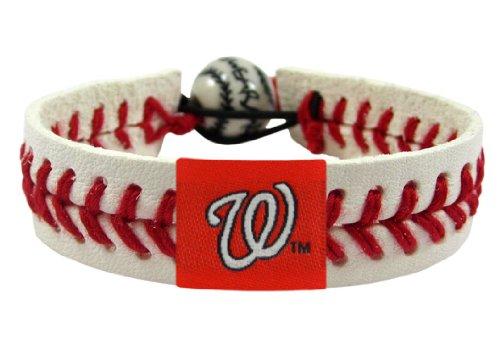 MLB Washington Nationals Classic Baseball - Leather Baseball Bracelet