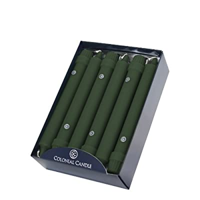 Colonial Candle Classic Tapers, 8-Inch, Evergreen