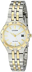 Citizen Eco-Drive Women's 'Sport' Quartz Stainless Steel Casual Watch, Color: Two Tone (Model: EW2334-51A)