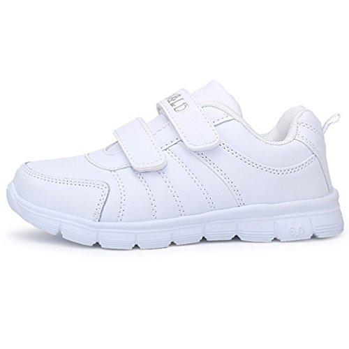 Hoxekle Boys Girls Breathable White Tennis Sports Shoes Anti Slip Athletic Running Sneakers Kids Toddler