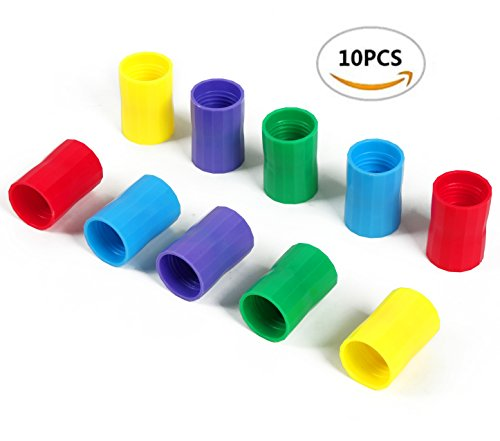 10 Pieces Bottle Connectors Tornado Connector Cyclone Tube for Scientific Experiment and Test, 5 Colors 10 Pcs