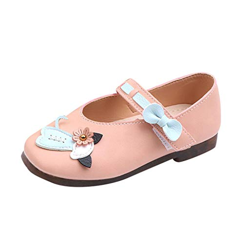 (Toponly Baby Girls Mary Jane Flats Soft Sole Infant Moccasins Little Cat Flower Toddler Princess Dress)