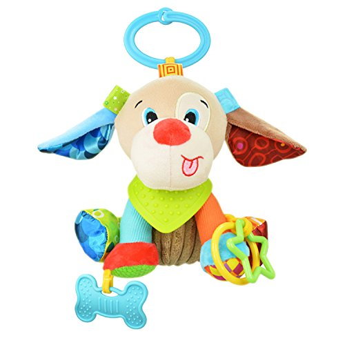Sozzy Plush Baby Animals Multi Sensory Activity Toy for Babies and Toddlers (Puppy)