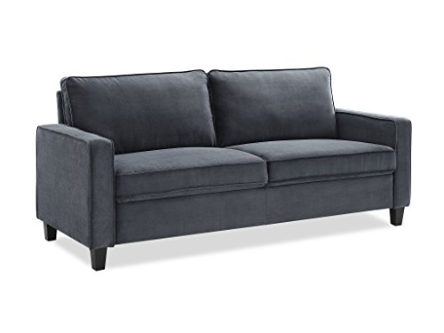 Pearington Glen Port Microfiber Living Room, Dark Grey, 3 Seat Sofa