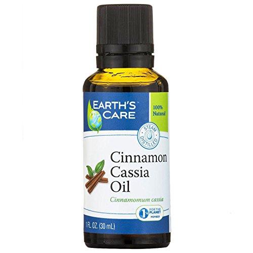 Earth's Care, Cinnamon Cassia Oil, 100% Natural, 1 fl oz (30 ml) - 2PC by Earth's Care