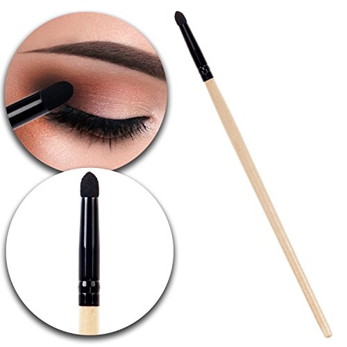 Beauty Make Up Application Tool Eyes Eyelids Smudge Eyeshadow Shadow Applicator Sponge Brush With Wooden Handle