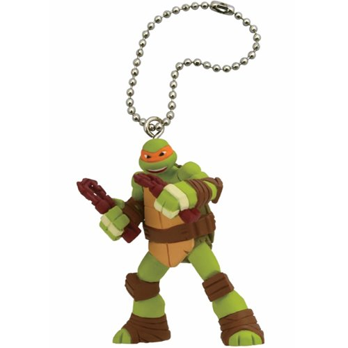 TMNT Teenage Mutant Ninja Turtles Figure Mascot Keychain - Michelangelo