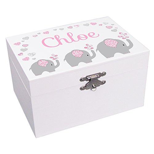 Personalized Elephant Ballerina Jewelry Box