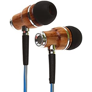 Symphonized NRG 3.0 Earbuds | Wood In-ear Noise-isolating Headphones with Mic & Volume Control (Powder Blue & Hazy Gray)