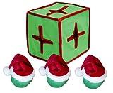 Outward Hound Kyjen  PP01872 I-Qube Puzzle Plush Holiday Dog Toy, Large, Holiday Colors