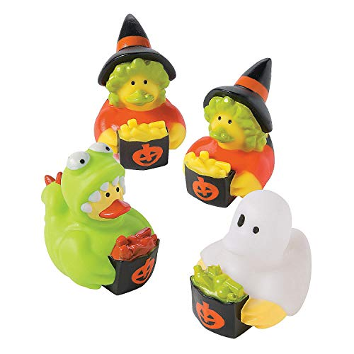 Fun Express Trick Or Treat Halloween Costume Rubber Ducks Duckies - 12 Pieces -