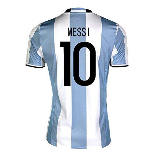 深さ食用空虚adidas Messi #10 Argentina Home Soccer Jersey Copa America Centenario 2016 YOUTH/サッカーユニフォーム アルゼンチン ホーム用 メッシ #10 ジュニア向け