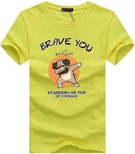 AVJDJ Camisetas de Hombre de Gran tamaño Moda Animal Print Hipster Camiseta Divertida Hombres Verano Calle de la Calle Hip-Hop Camiseta Hombre Tops XL Amarillo: Amazon.es: Deportes y aire libre