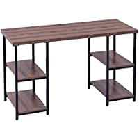 Computer Desk PC Laptop Table with 4 Storage Shelves for Writing Study Workstation