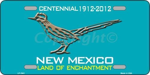 (Smart Blonde LP-1941 Road Runner Teal New Mexico Novelty Metal License)