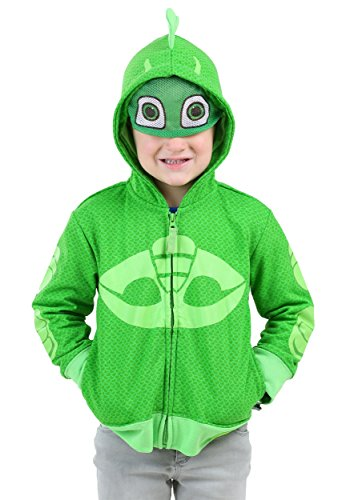 Happy Threads PJ Masks Gekko Toddler Boy Costume Hooded Sweatshirt 5T