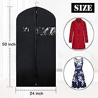 Syeeiex Bolsas para ropa para guardar vestidos y una bolsa protectora para abrigos de viaje con ventana transparente para traje, chaqueta larga, ...