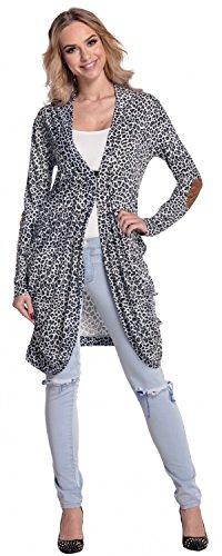 Glamour Empire. mujer jersey cardigan Manga Larga Tamaños EU 38-44. 286 Leopardo Blanco