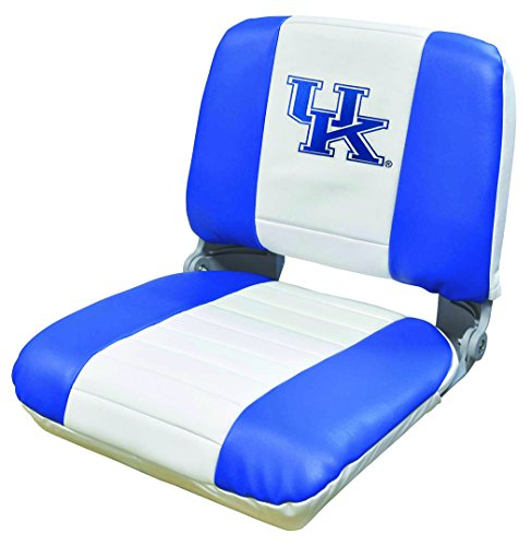 Wise NCAA Kentucky Wildcats Collegiate Pro-Style Fishing Boat Seat, Blue/White, One Size -