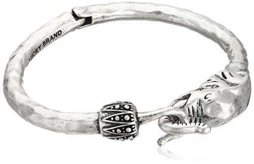 Silver Elephant Bracelet - Lucky Brand Silver Elephant Cuff Bracelet, 2.38