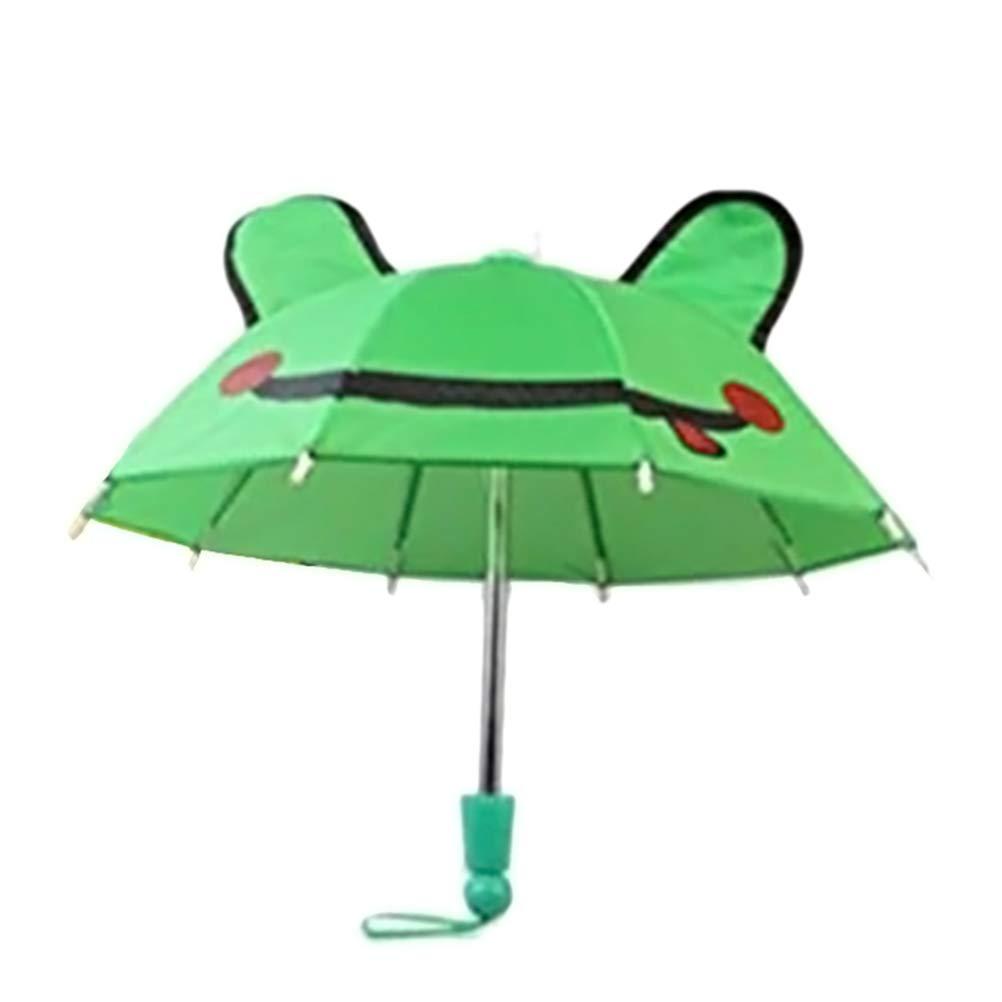 Yissma Parapluie de Pluie pour Enfant avec Animal 3D pour gar/çons et Filles Vert