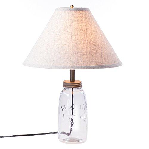 Medium Mason Jar Lamp with Shade