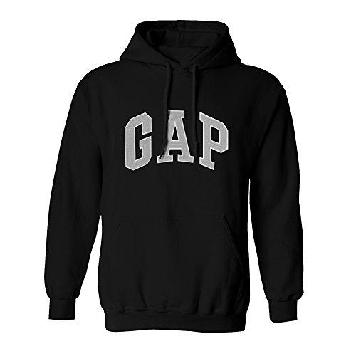 (GAP Pullover Men's Fleece Hoodie Logo (X-Large, Black))