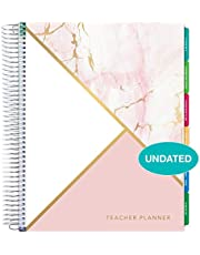 """$32 » Deluxe 2020-2021 Dated Teacher Planner: 8.5""""x11"""" Includes 7 Periods, Page Tabs, Bookmark, Planning Stickers, Pocket Folder Daily Weekly Monthly Planner Yearly Agenda (Watercolor Stripes)"""
