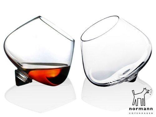 Normann Copenhagen - Set 4 Bicchieri per Cognac (Cognac Glass) - Diametro 11 cm - Capacità 25 cl