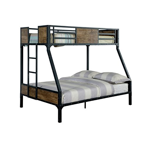 Cheap Furniture of America Baron Twin Over Full Bunk Bed in Black