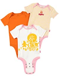 "Baby girl Cuddly Bodysuit Winnie the Pooh ""Hundred Acre Wood"" 3 Pack"