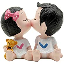 Creative Cute Kiss Boy and Girl Toys Figurines Cake Topper, Dashboard Decorations Car Home Office Ornaments Best Birthday Holiday Gift(a pair)