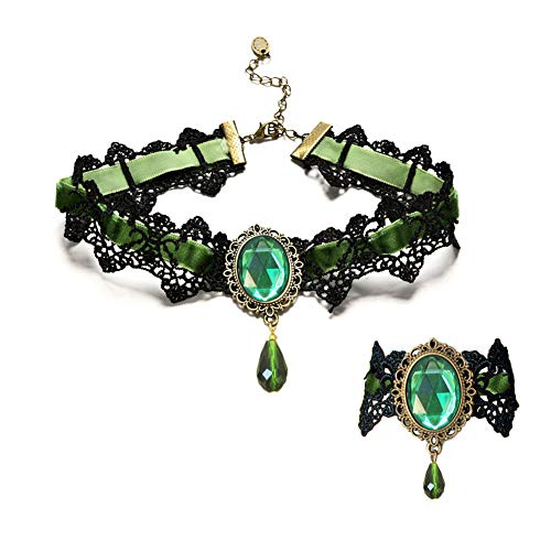 Youniker Retro Handmade Choker Necklace and Bracelet Jewelry