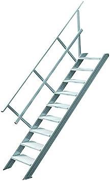 Escaleras hymer hospitalizadoy sin podio, inclinación escaleras 45 grado, por escaleras-B. 600 mm, T, 250 mm, 1-seitiger Handl en, 11 por escaleras, senkr. Altura de 2,31 M, peso 44 kg: Amazon.es: Bricolaje y herramientas