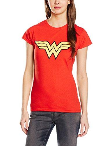 Wonder Woman Logo Ladies T Shirt, Red (XX-Large) (Wonder Woman T Shirts)