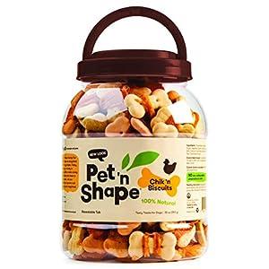 Pet 'N Shape Chicken Biscuits Natural Dog Treats, 2-Pound Tub