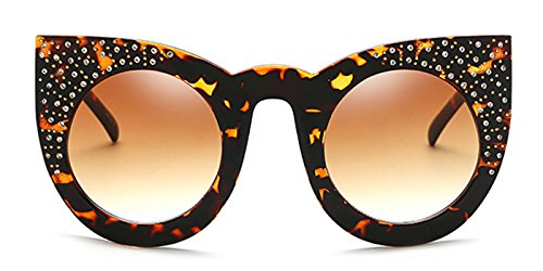 Slocyclub Retro Bling Cat Eye Round Lens - Topman Sunglasses