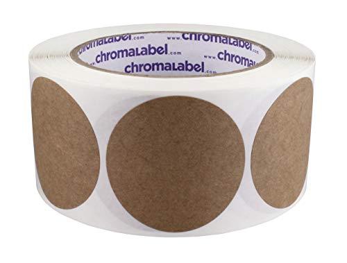 ChromaLabel Kraft Dot Labels | 500/Roll (2 inch)