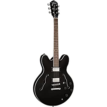 full size hollow body electric guitar with cable and picks sunburst musical. Black Bedroom Furniture Sets. Home Design Ideas