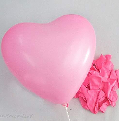 Mikash 10 Color Heart Shape Latex Balloons Wedding Party Decoration Helium   Model WDDNGDCRTN - 22525   50