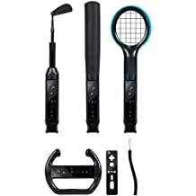 Wii and Wii Fit Grand Slam 6-in-1 Sports Pack - Black - Standard Edition